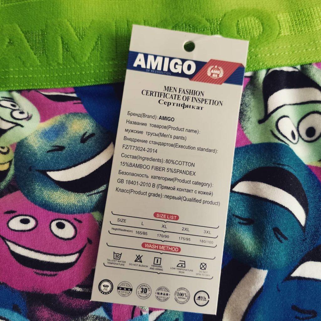 Обзор мужских трусов AMIGO с принтом зеленого цвета